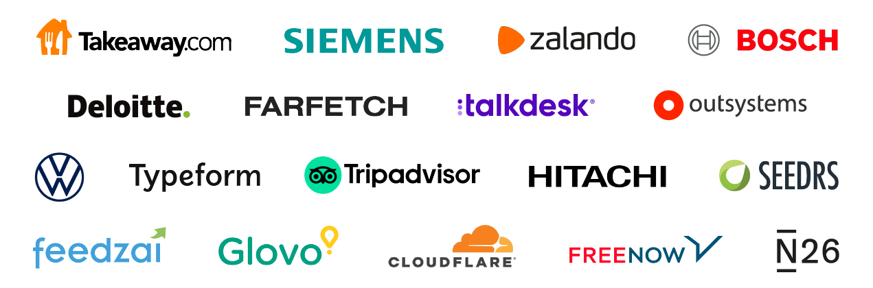Logos of companies working with Landing.Jobs